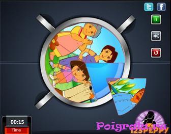 Картинка к игре Даша, круговой пазл