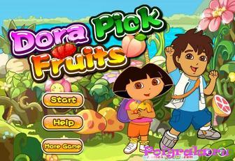 Игра Даша и Диего собирают фрукты