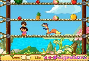 Картинка к игре Даша и Диего собирают фрукты