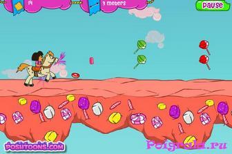 Картинка к игре Даша скачет на пони