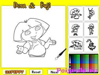 Картинка к игре 6 раскрасок Даши
