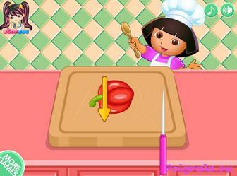 Картинка к игре Даша делает пиццу