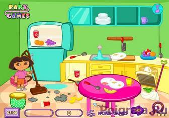 Игра Даша убирает комнату