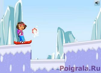 Картинка к игре Прыжки на лыжах с Дашей
