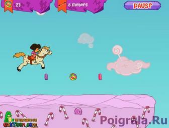 Картинка к игре Даша на лошадке