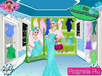 Беременная Эльза в магазине картинка 1
