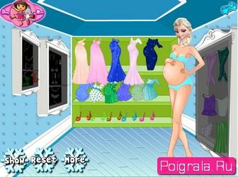 Картинка к игре Беременная Эльза в магазине