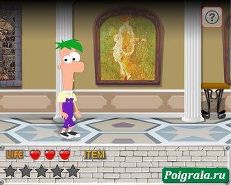 Картинка к игре Финис и Ферб, побег из музея