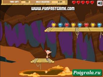 Картинка к игре Приключения Финиса и Ферба под землей