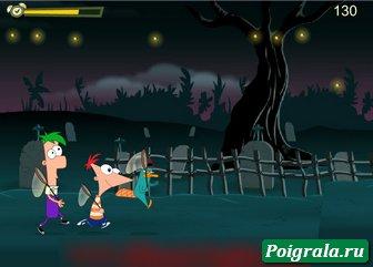 Картинка к игре Финис, Ферб и Перри ловят светлячков