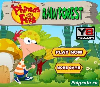 Финис и Ферб в лесу картинка 1
