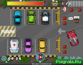 Картинка к игре Парковка пожарной машины