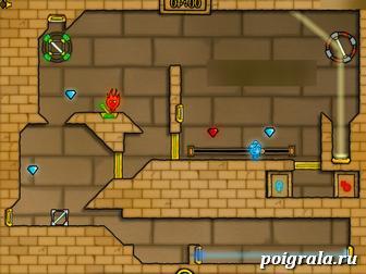 Игра Огонь и вода 2 в светлом храме