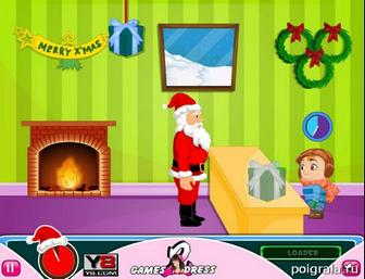 Картинка к игре Санта дарит подарки