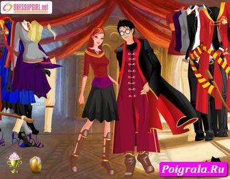 Картинка к игре Гарри Поттер и Джинни Уизли