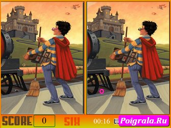 Картинка к игре Гарри Поттер, найди отличия