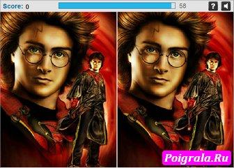 Картинка к игре Гарри Поттер, найди разницу