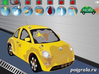 Картинка к игре Джинджер моет машину