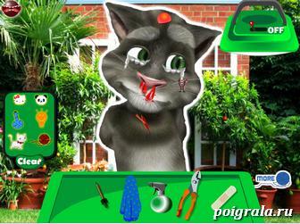 Картинка к игре Говорящий кот Том у врача