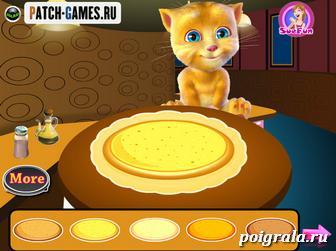 Картинка к игре Джинджер готовит пиццу