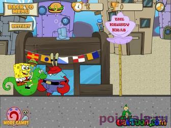 Картинка к игре Спанч Боб доставка крабсбургеров