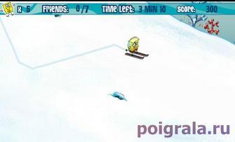 Картинка к игре Спанч Боб на лыжах