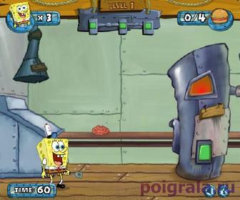 Картинка к игре Губка Боб изготавливает крабсбургеры