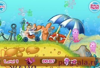 Картинка к игре Губка Боб катается в ванной