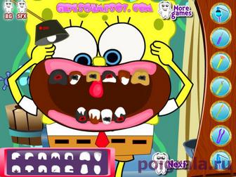 Картинка к игре Губка Боб лечит зубы