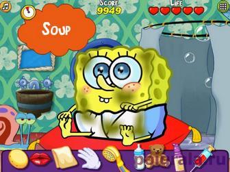 Картинка к игре Малыш Губка Боб