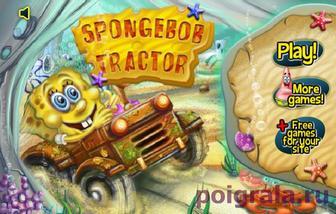 Губка Боб на тракторе картинка 1