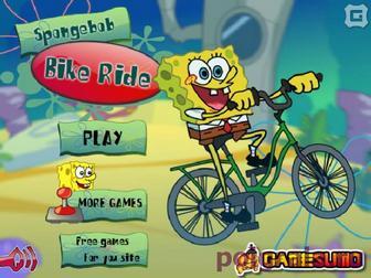 Губка боб на велосипеде картинка 1