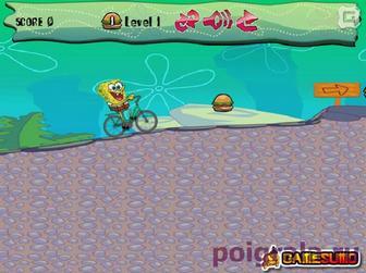 Картинка к игре Губка боб на велосипеде