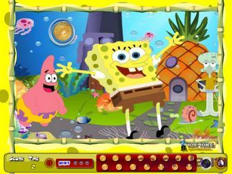 Игра Губка Боб найди монеты
