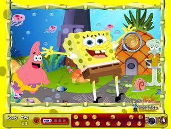 Картинка к игре Губка Боб найди монеты