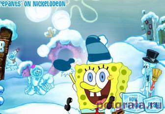 Губка Боб снежные штаны картинка 1