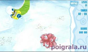 Картинка к игре Губка Боб снежные штаны