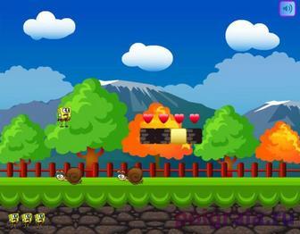 Игра Губка Боб в мире Марио