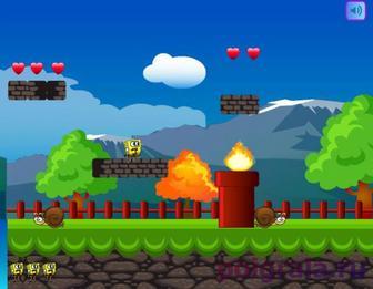 Картинка к игре Губка Боб в мире Марио