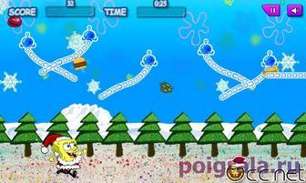 Картинка к игре Губка Боб веселье в зимний день
