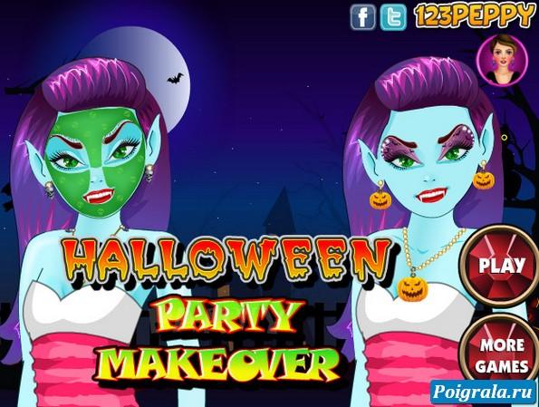 Игра Макияж для хеллоуина
