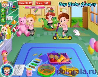 Картинка к игре Малышка Хейзел в детском саду