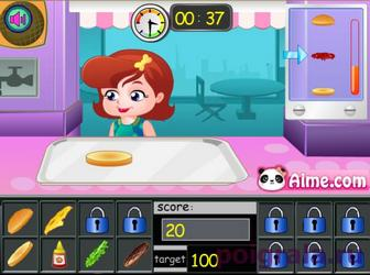 Картинка к игре Малышка Хейзел в магазине гамбургеров