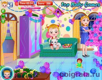 Картинка к игре Малышка Хейзел новый год