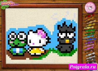 Картинка к игре Вышиваем крестиком хелло Китти