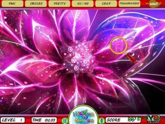 Картинка к игре Найди буквы в цветах