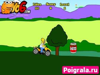 Картинка к игре Гонки с Гомером Симпсоном