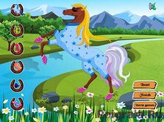 Картинка к игре Одень лошадку