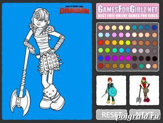 Картинка к игре Иккинг и Астрид раскраска