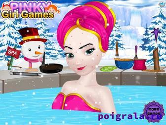 Картинка к игре Холодное сердце, Эльза в спа салоне